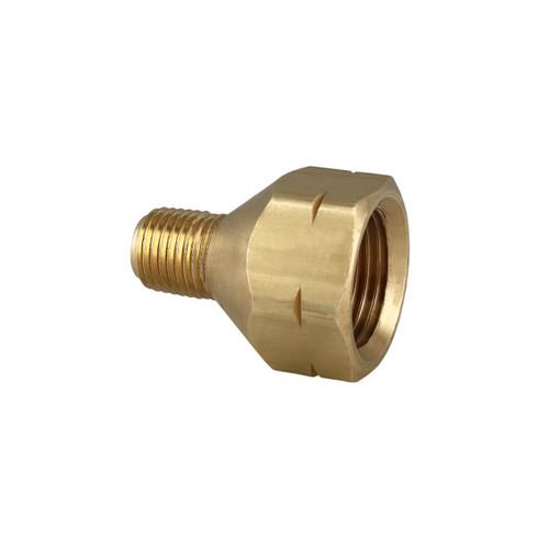 """Female P.O.L. x 1/4"""" Male Pipe Thread Brass Fitting."""