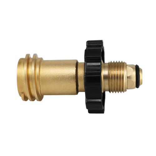 Universal Fit Propane Tank adapter makes POL tanks fit TYPE 1 hoses and regulators.