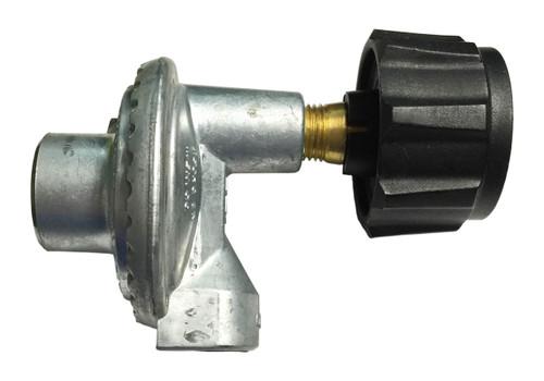 "90° Propane Regulator with ACME/Type 1 x 3/8"" Female Pipe Thread."