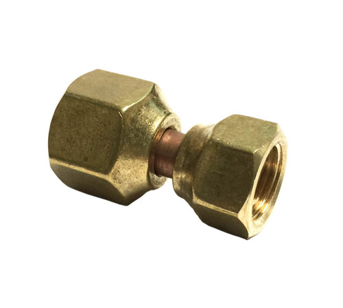 "1/2"" Female Flare Swivel x 3/8"" Female Flare Swivel."