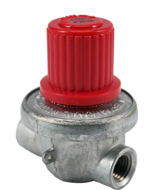 Adjustable High-Pressure Regulator 0-10 PSI.