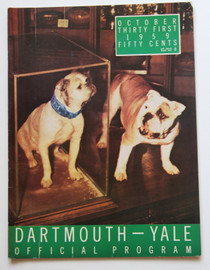 Dartmouth v. Yale Football Program 1959. Handsome Dan Bulldog