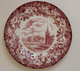Harvard Wedgwood Plate Dane and Massachusetts Halls