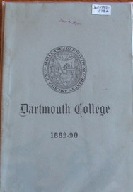 Dartmouth University Catalog 1889-1890