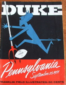 Duke v. Penn Football Program 1954
