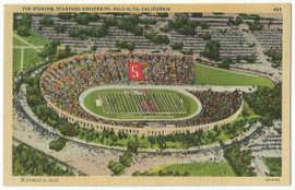 Stanford Linen Postcard - The Stadium