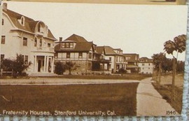 Stanford Fraternity Houses Postcard