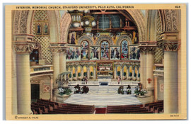 Stanford Linen Postcard - Interior Memorial Church