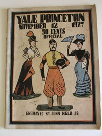 Yale v. Princeton Football Program 1927 - John Held, Jr. Cover