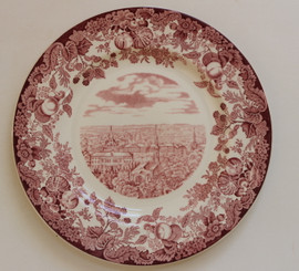 Harvard Wedgwood Plate - The Yard