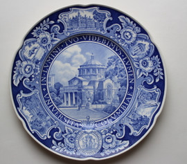 "Columbia University Wedgwood Plate ""St. Pauls Chapel"""