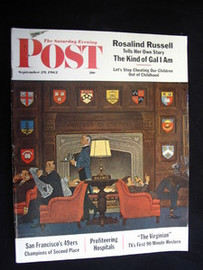 Saturday Evening Post September 1962 Ivy League Cover