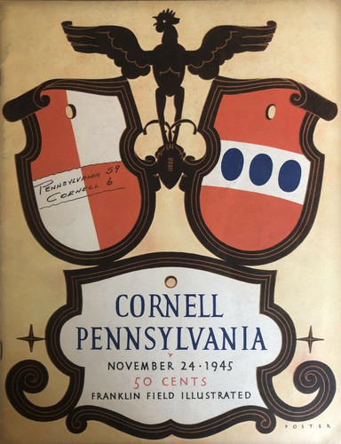 Cornell v. Penn Football Program 1945 - Chuck Bednarik