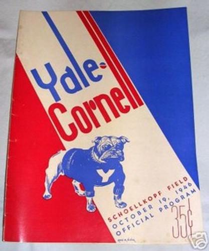 Yale v. Cornell Football Program 1946