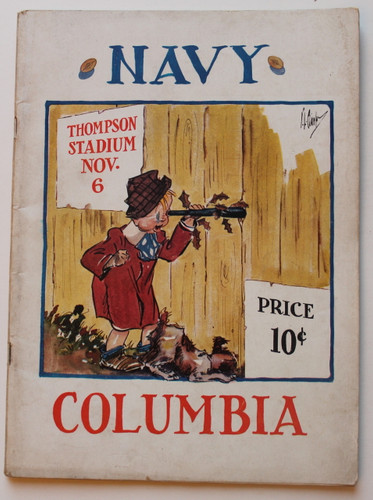 Columbia v. Navy Football Program 1937