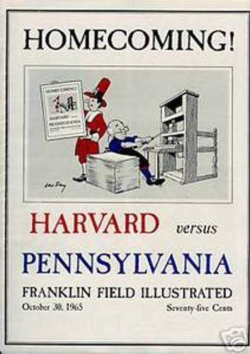 Harvard v. Penn Football Program 1965