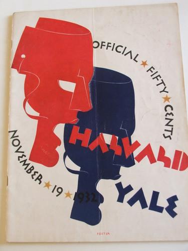 Harvard v. Yale Football Program 1932