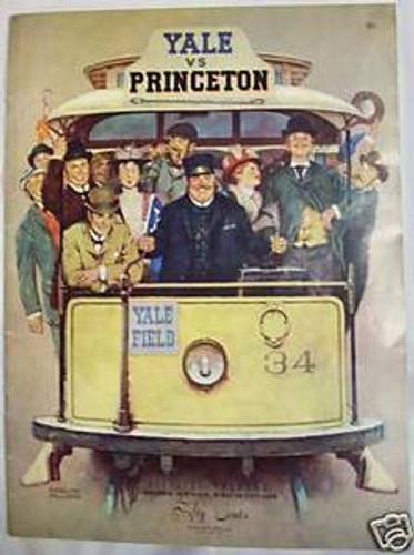 Yale v. Princeton Football Program 1954 - Winslow Williams Cover