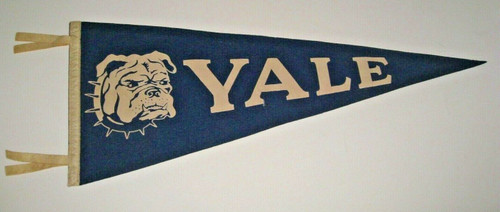 1950s Yale Vintage Wool Bulldog Pennant