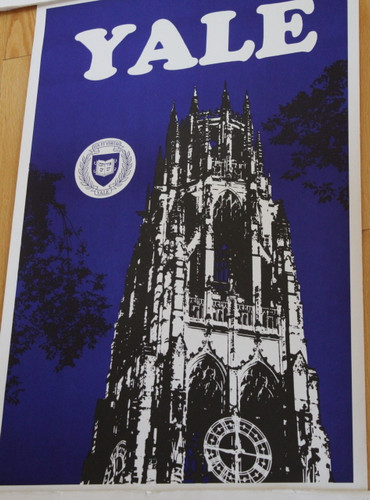 Yale University Poster - Harkness Tower