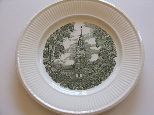 Dartmouth College Wedgwood Plate Baker Library Tower