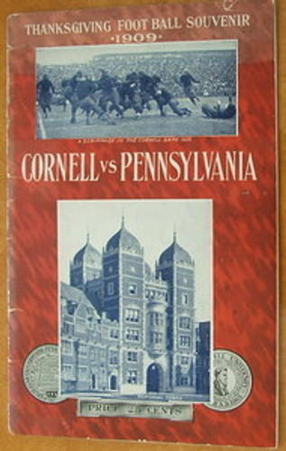 Cornell v. Penn Football Program 1909