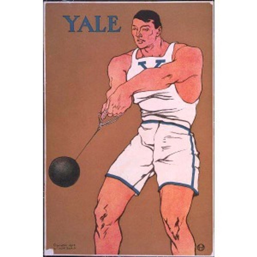 Yale Hammer Thrower Poster