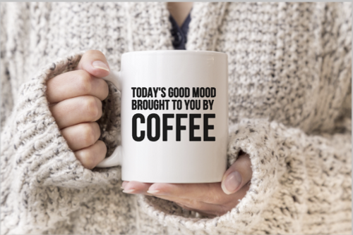 Today's good mood brought to you by coffee mug