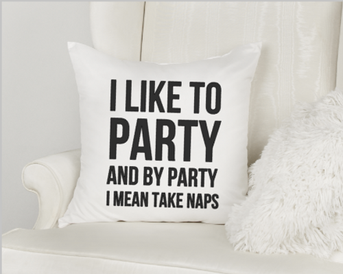 I Like To Party Pillow