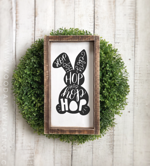 Hop Easter Bunny Sign