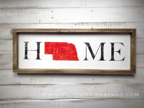Nebraska Home Sign