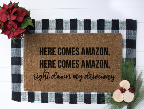 Here comes amazon, right down my driveway
