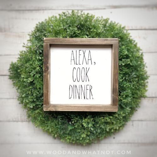 Alexa, cook dinner