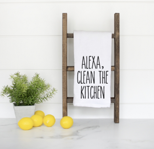 Alexa, clean the kitchen flour sack towel