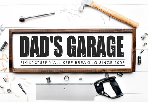 Daddy, Dad, Grandpa's garage
