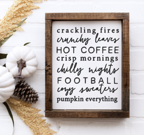 Crackling fire fall sign
