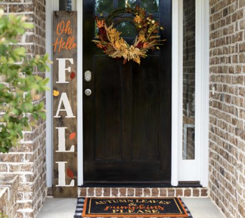 Hello Fall porch sign