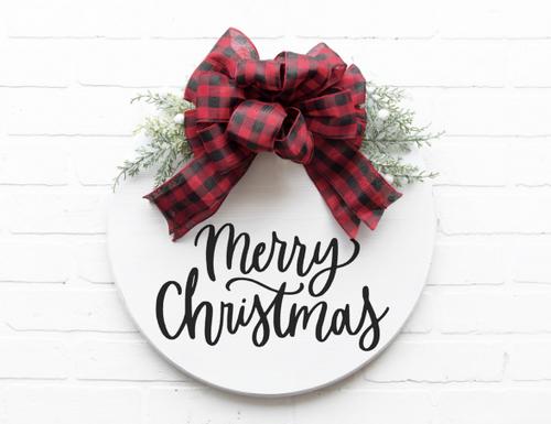 Merry Christmas/Happy Holidays door hanger