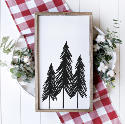 Nordic trees laser cut sign