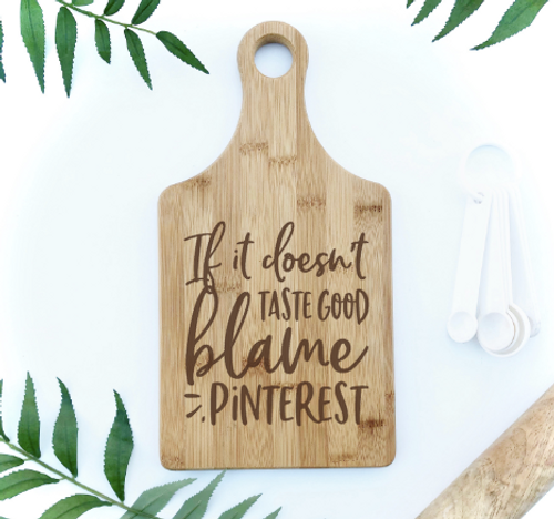 Blame Pinterest engraved cutting board