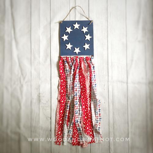 Flag door hanger  with fabric