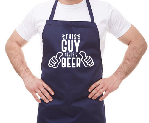This guys needs a beer apron