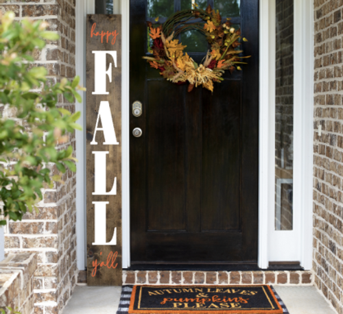 Happy Fall Y'all/Merry Christmas Reversible Porch Sign