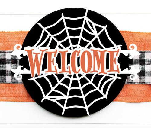 Welcome Spider Web Door Hanger