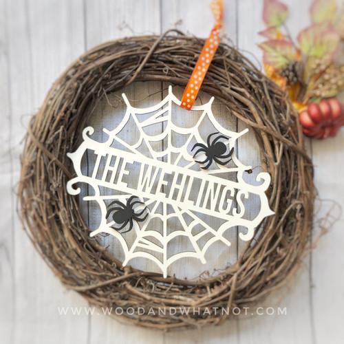 Personalized Spider Web Door Hanger
