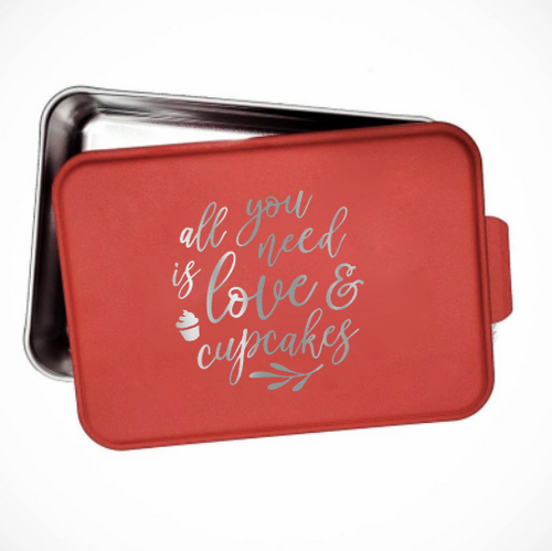 All you need is love and cupcakes cake pan