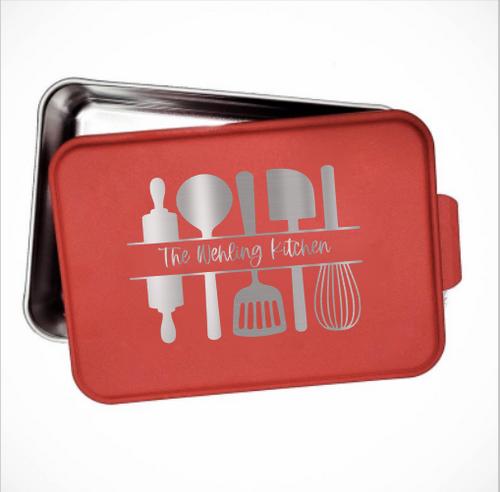 Kitchen utensil personalized cake pan