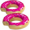 "Pack of 2 Wham-O SPLASH 88cm / 35"" Inflatable Swim Ring Giant Bite Shaped Strawberry Donut Tube Pool Float"
