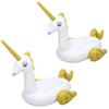 PACK OF 2 White Inflatable Giant Mega Supersized Unicorn Rider Float Pool - 7.2' x 6.4'