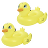 """PACK OF 2 Yellow Inflatable Giant Mega Supersized Duck Rider Swimming Lounge Float Pool Toy Lilo - 6.1' x 50"""""""